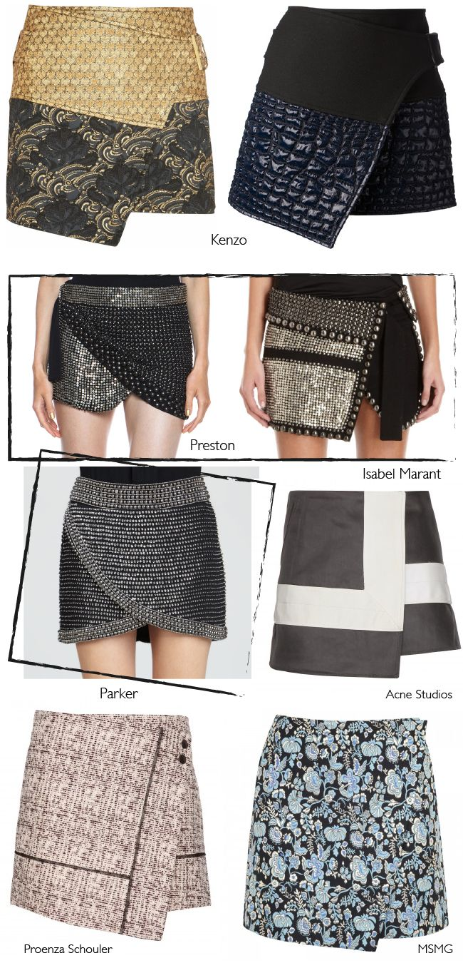 Wrap skirts - they've moved on since my dalliance with them in the mid 90's - they definitely weren't this glamourous.