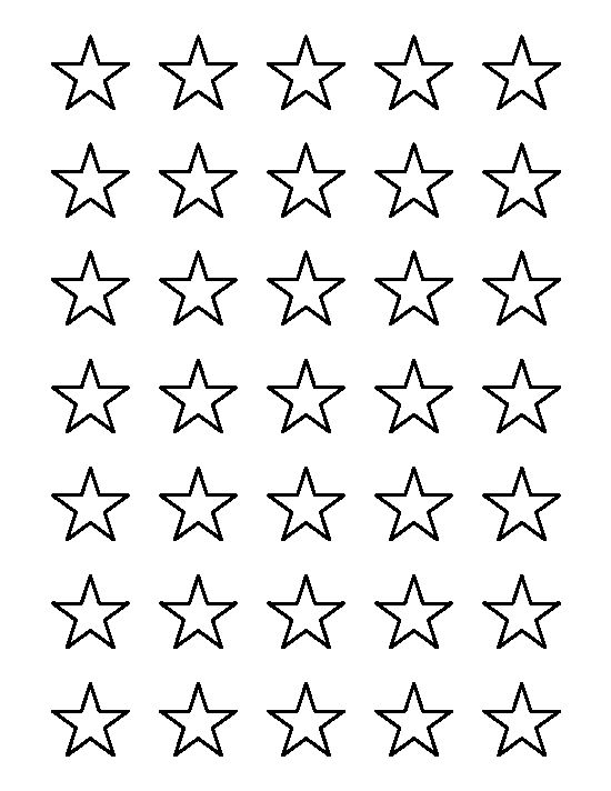 1 inch star pattern use the printable outline for crafts for Small star template printable free