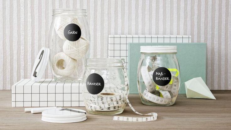 Runde Living-Deko-Etiketten im Tafel-Design