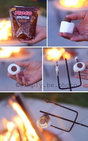 Made rolo s'mores last night with the fam & it's literally the best thing in the entire world.. not kidding!