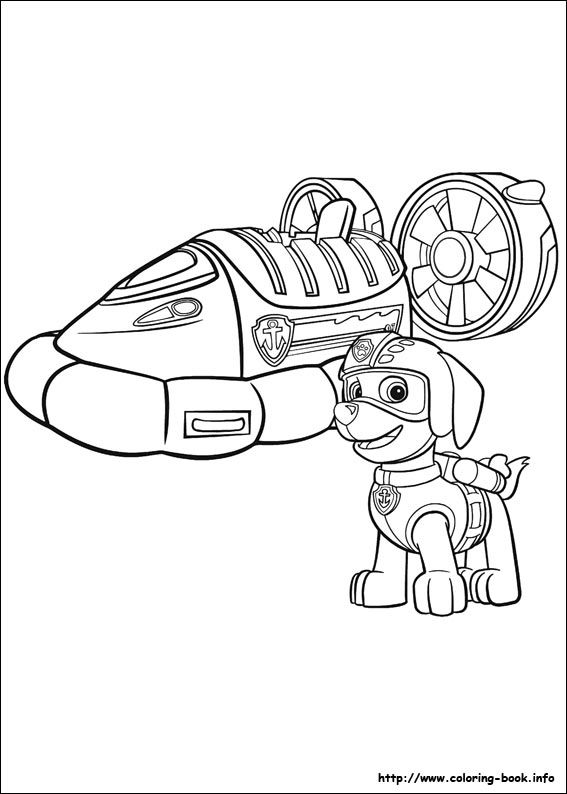 Paw Patrol coloring picture