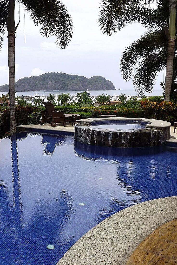 A villa view in the los suenos complex near jaco in costa for Luxury vacation costa rica