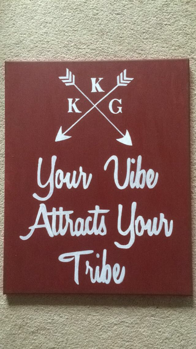 KKG Your Vibe Attracts Your Tribe canvas