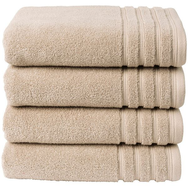 Christy Panama Hand Towel Putty featuring polyvore, home, bed & bath, bath, bath towels, fillers, decor, item, simple set fillers, brown, brown hand towels, christy bath towels and brown bath towels