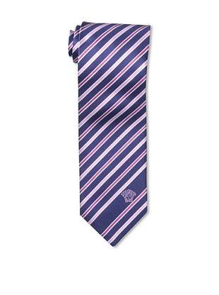 60% OFF Versace Men's Striped Tie, Pink/Purple