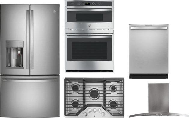Ge Profile 5 Piece Kitchen Appliances Package With French Door