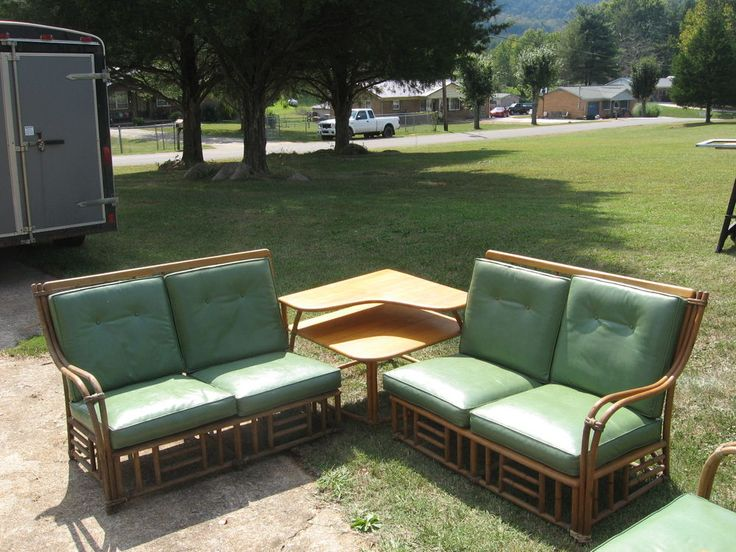 Vintage Heywood Wakefield Bamboo Patio / Sunroom Set #HeywoodWakefield