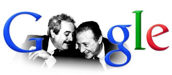 #doodle in memoria di #Falcone e #Borsellino.