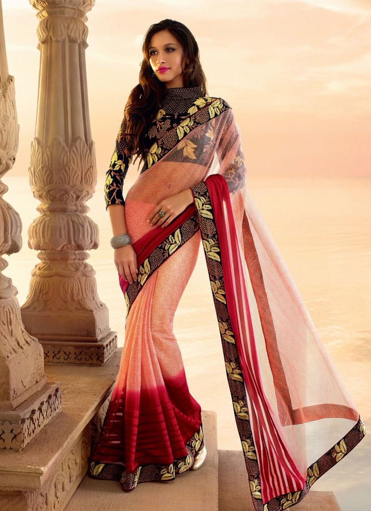 http://www.sareebuzz.in/sarees/lustrous-red-and-pink-net-embroidered-designer-saree-7282  Lustrous Red And Pink Net Embroidered Designer Saree  Color : Pink Red  Occasion : Ceremonial Reception  Fabric : Net  Work : Embroidered Patch Border Item Code: : 7282   For Inquiry Or Any Query Related To Product, Contact :- +91 9974 111 22