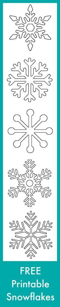 Free Printable Snowflake Templates – Large & Small Stencil Patterns -                                                                                                                                                                                 More
