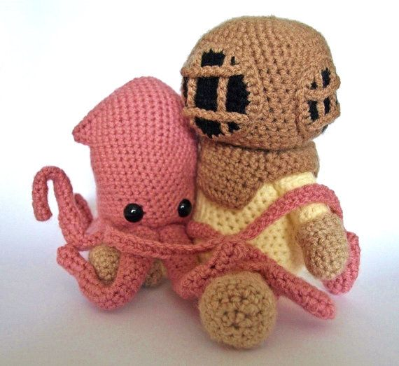 both the deep sea diver and the squid crochet patterns