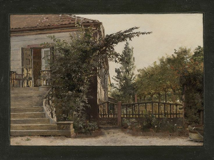 Christen Købke, The Garden Steps Leading to the Artist's Studio on Blegdammen, Ca. 1845. KMS6605