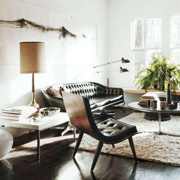 Midcentury furniture magic |. #lessismore #interiorsinspiration