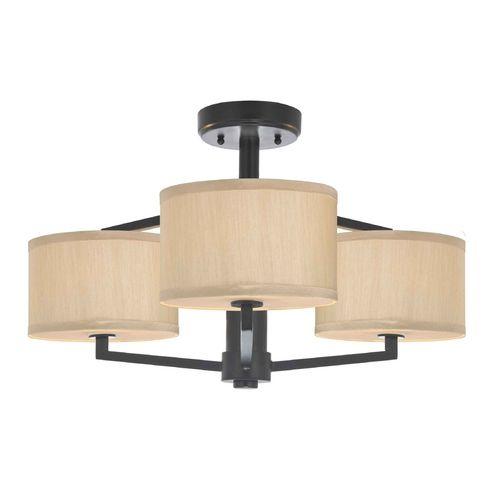 24x13 Dolan Designs Lighting Semi-Flush Ceiling Light with Drum Shades | 1885-40 | Destination Lighting