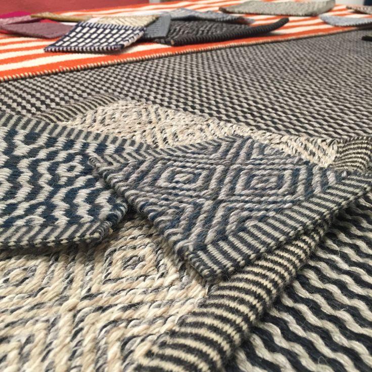 Some examples of Kasthall flatweaves - custom made Swedish rugs