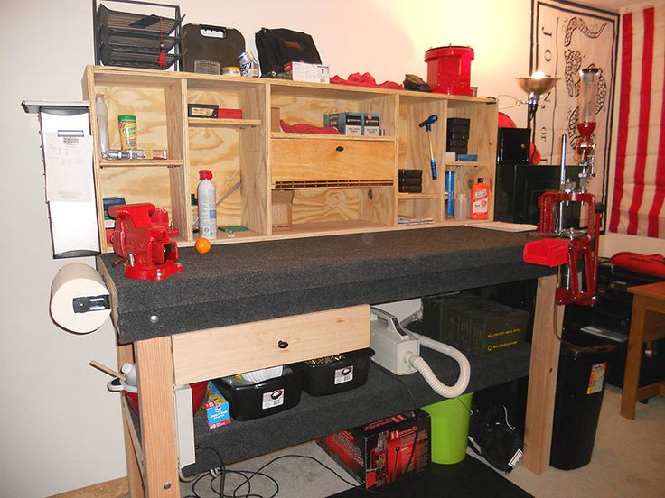Man Cave Bench Ideas : Reloading room pics page man cave ideas pinterest