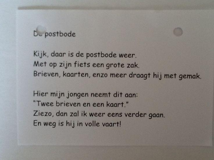 Versje over de postbode.
