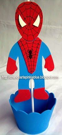 Pinkie Blue Artigos para festa: Homem-aranha -CENTRO DE MESA
