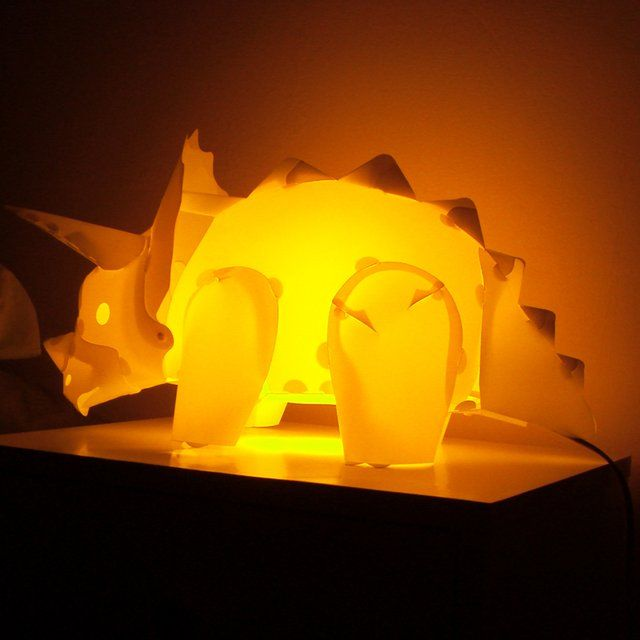 Attractive Triceratops Dinosaur Lamp
