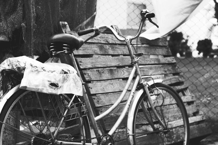 Vintage bicycle on the streets of Maputo, Mozambique