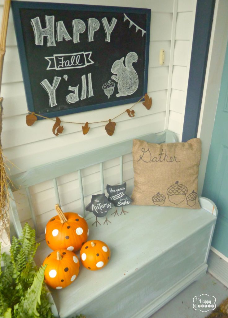 gemstone jewellery online fall front porch with chalkboard art and diy sharpie pillow covers and polka dot pumpkins at thehappyhousie