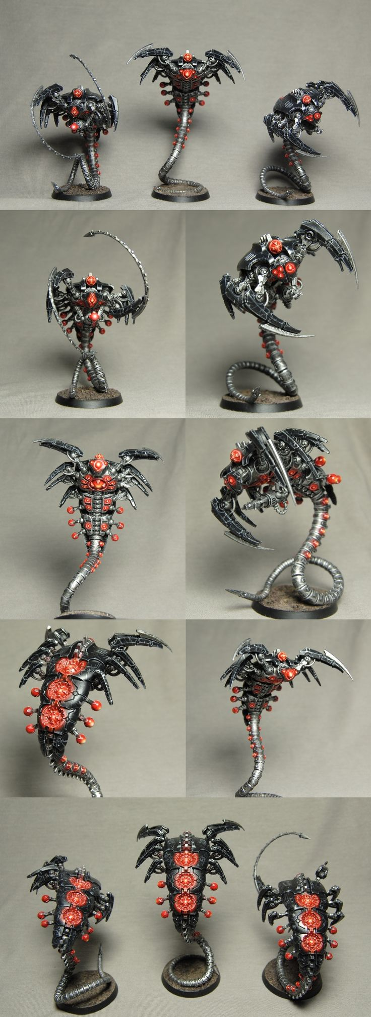 Necron Canoptek Wraiths {but dif simple color scheme.. some kind of beat up metal, airbrush sickly yellow.. bam!}