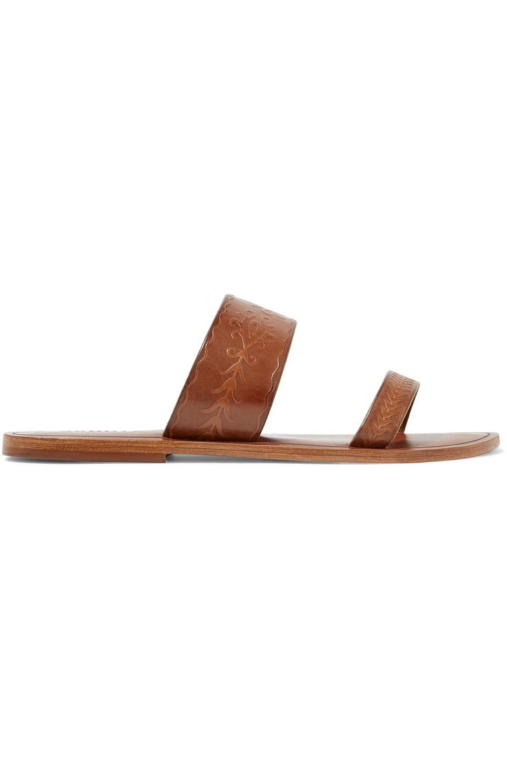 Shop on-sale Schutz Concetta embossed leather slides. Browse other discount designer Sandals & more on The Most Fashionable Fashion Outlet, THE OUTNET.COM
