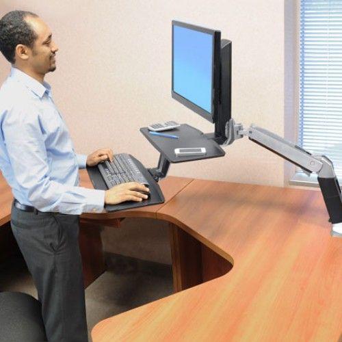 WorkFit-A con teclado suspendido, una pantalla LD 24-390-026 - Ergotron
