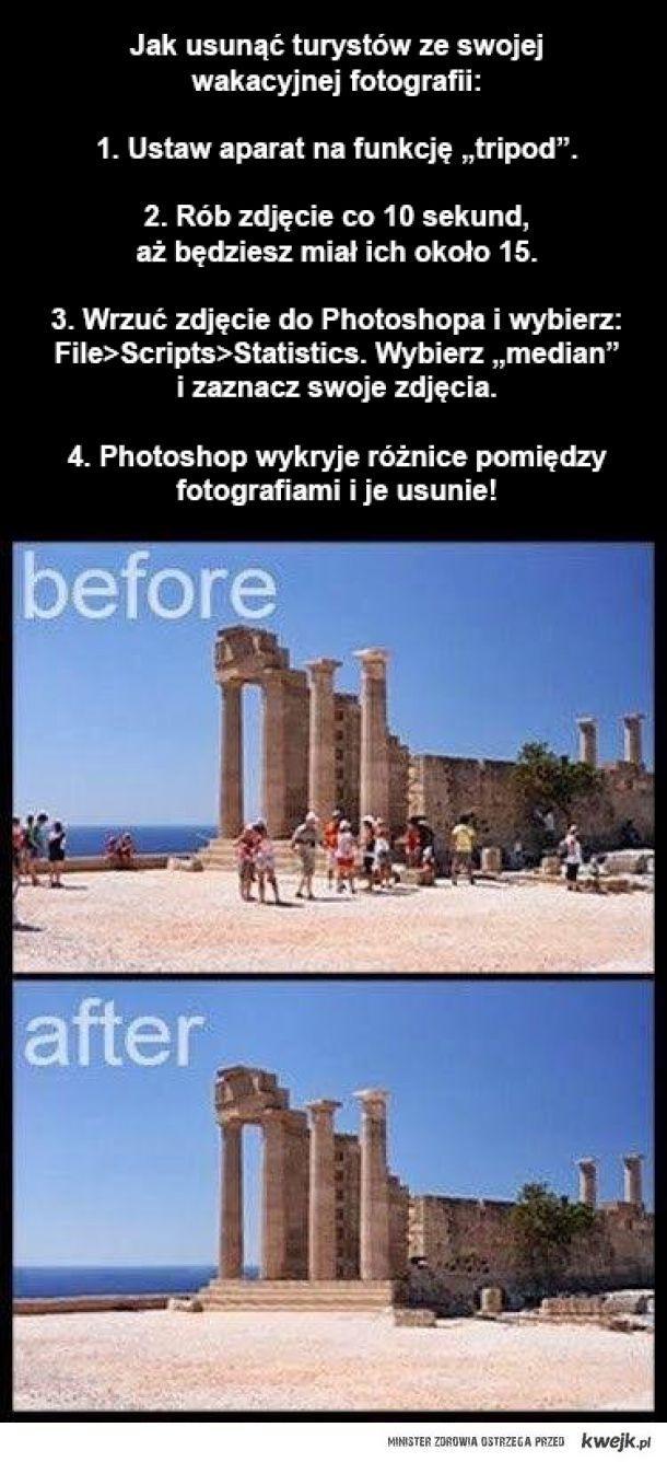 Usuń turystów ze swoich zdjęć