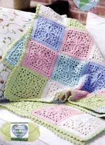 Crochet Refreshing Throw LW1669 | Purple Kitty