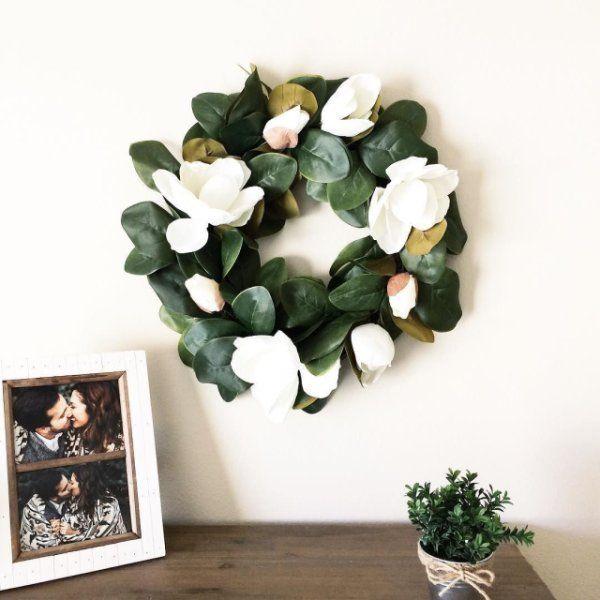 "Faux Magnolia 24"" Wreath   Pier 1 Imports"