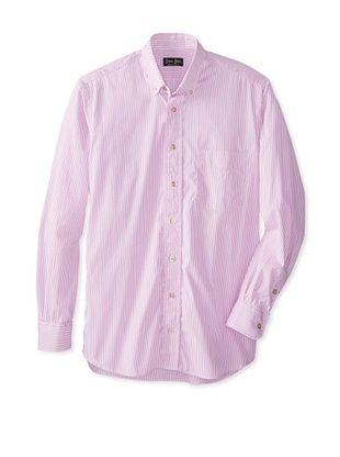 59% OFF Gitman Blue Men's Striped Long Sleeve Shirt (Pink)