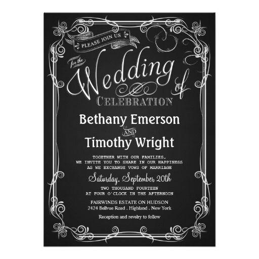 84 best invitations wedding spring images on pinterest elegant chalkboard wedding invitation stopboris Choice Image