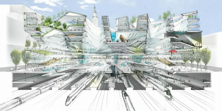 Penn Station cutaway by DS+R Design (Image: DS+R Design)