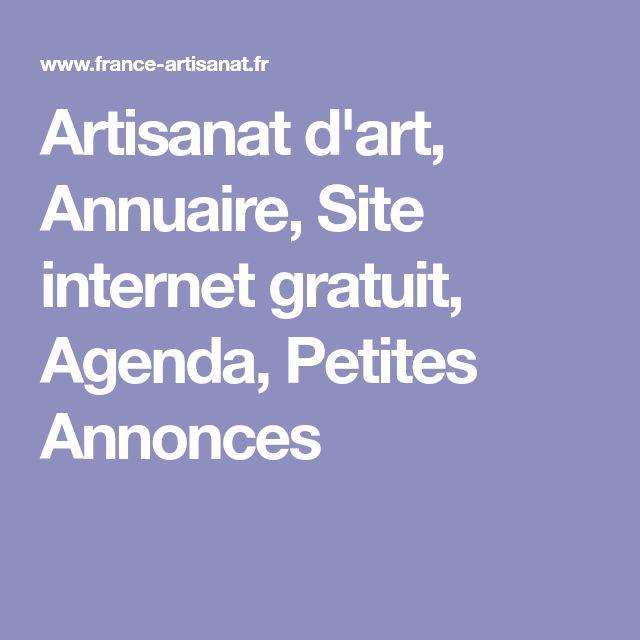 Artisanat d'art, Annuaire, Site internet gratuit, Agenda, Petites Annonces