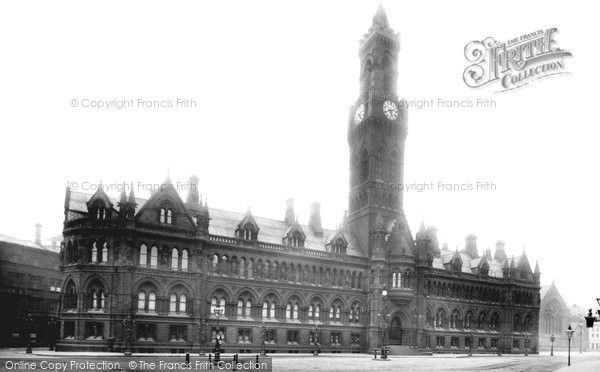 Bradford, Town Hall 1897, from Francis Frith