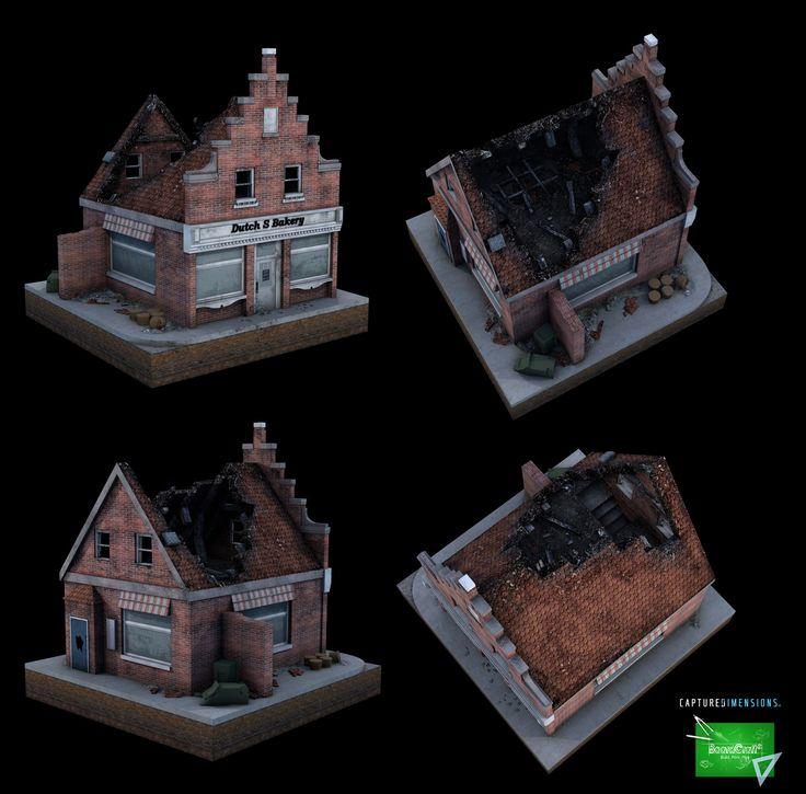 3D Print Buildings, juan domanski on ArtStation at https://www.artstation.com/artwork/l69BY