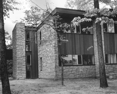 In 1940 he visited in May, June and September to discuss the plans and also to supervise the construction of a house he had designed for an Austrian-born opthamologist, Dr. Sprinza Weizenblatt, who had moved to Asheville after World War One (it is assumed that she made Breuer's acquaintance when he was visiting Black Mountain). In July 1941, Breuer was invited to lecture at the North Carolina Chapter of the AIA in Asheville, and he visited the college while there.