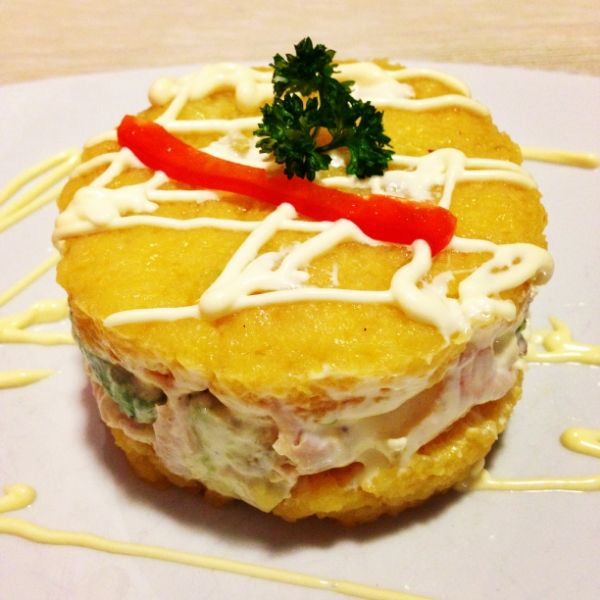 Causa de pollo @ Casa Inka. If you like Peruvian restaurants, you just have to try this.  Best Bratislava (Slovakia) Restaurants