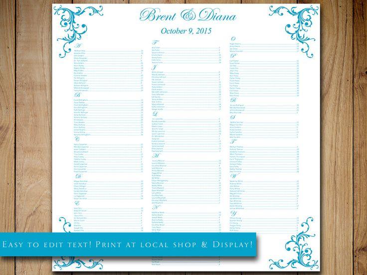 25+ ide Seating chart template terbaik di Pinterest - seating chart templates