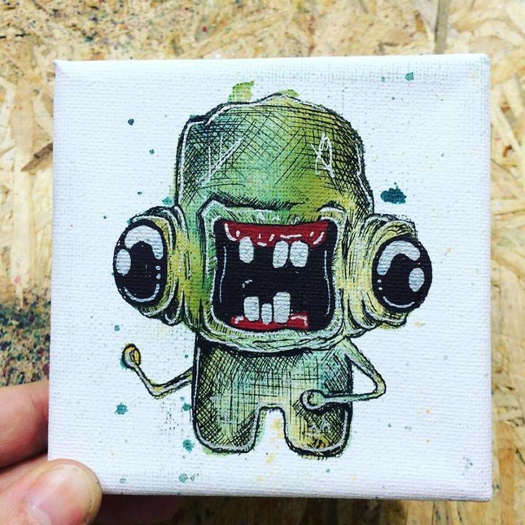 Un challenge dun monstre dans une éclaboussure de peinture chaque jour par Valentinos Demetriou  Dessein de dessin
