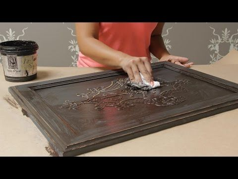 How to Stencil: Create a DIY Raised Carved Wood Effect with Stencils | Royal Design Studio