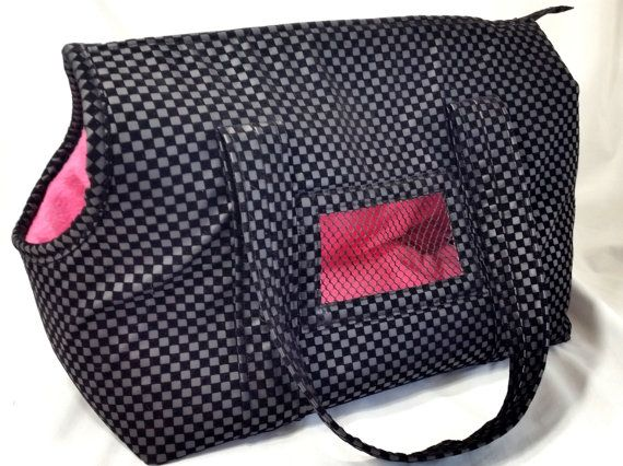 Black Pleather Cuddle Dog Carrier Dog by FashionTailsBoutique