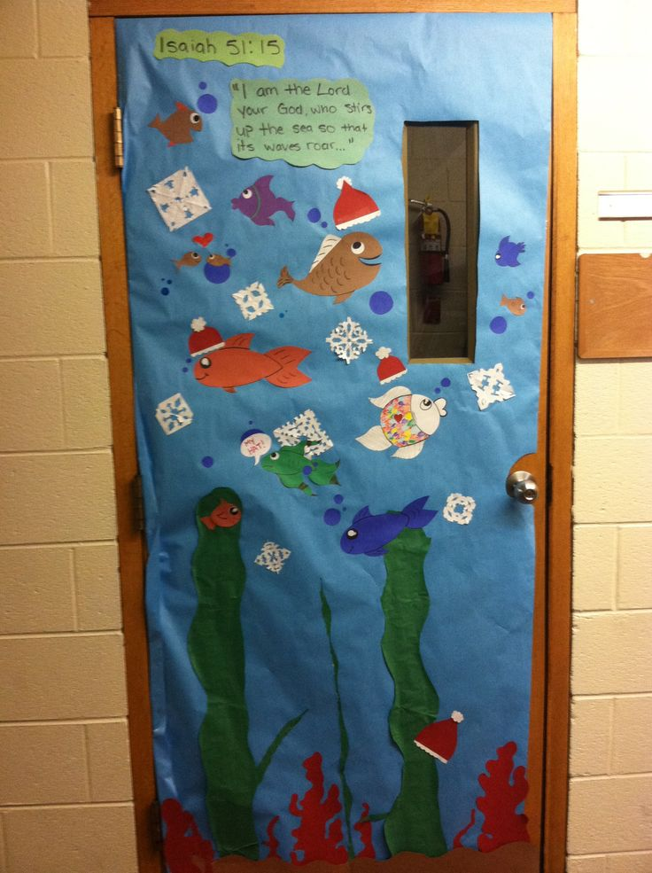 Under The Sea Classroom Decoration Ideas ~ Under the sea christmas door science class by whca