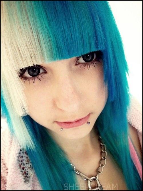 Blue White Hime Cut Hair Sheepcream Anime Dolls Pinterest