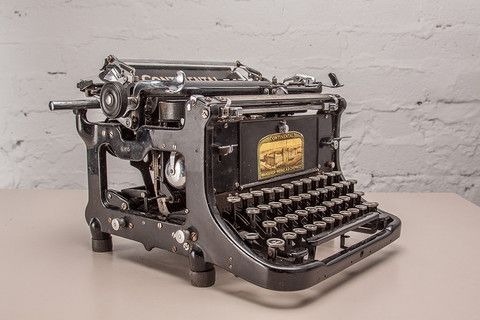 Continental German typewriter, in good working order. c.1950's.  If you like this check out our shop http://industrialthings.com/
