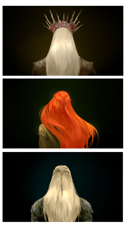 mirkwood elves by mformadness, clapping for myself because I know who these are. Thranduil, Tauriel, and Legolas <333
