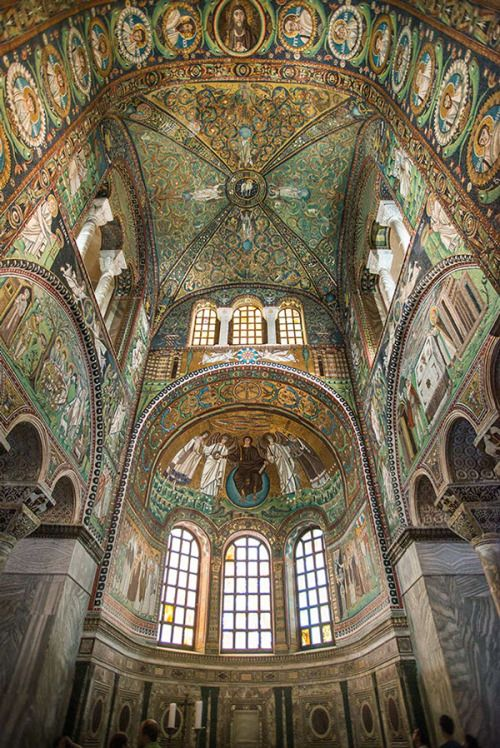 """archatlas: """" Le Chiese Romaniche a Ravenna Marco Ravasini The Basilica of San Vitale is a church in Ravenna, Italy and one of the most important examples of early Christian Byzantine art and architecture in Western Europe. The building is styled an..."""