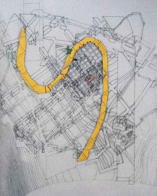 "hiddenarchitecture: "" Peter Eisenman - Giuletta e Romeo - Verona, Italy. 1985 """