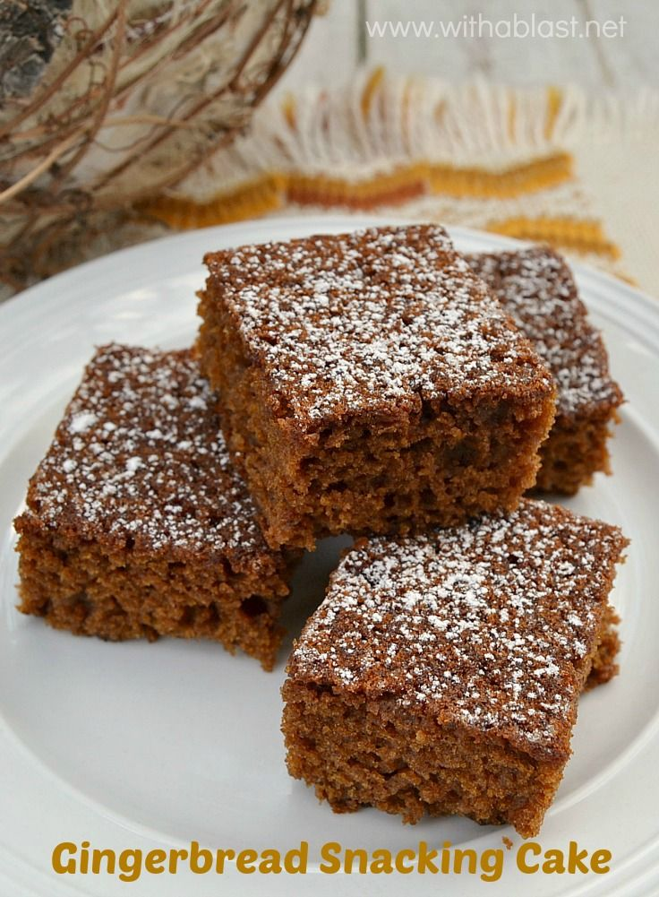 Rich, tasty Molasses, Gingerbread cake which is moist, soft and even better the next day #Gingerbread #Cake www.withablast.net